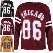 Ladies Chicago 86 Sports Stripes Baggy Top Womens Sweatshirts Sweater Jumper