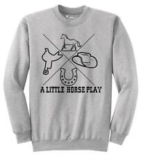A Little Horse Play Sweatshirt Equestrian Horse Country Graphic Hoodie