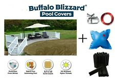 Aboveground Round Supreme Plus Swimming Pool Winter Cover w/ Clips & Air Pillow