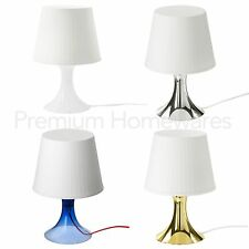 IKEA LAMPAN Table Lamp with Shade (White/Blue/Gold/Silver) + Optional LED Bulbs