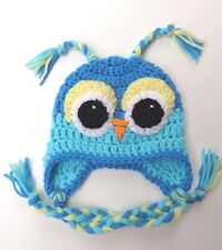 CROCHET OWL EAR FLAP BABY HAT knit infant toddler adult beanie photo prop USA