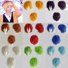 Colorful Cosplay Costume Wigs Fluffy Straight Full Wig Heat Resistant Short BOB