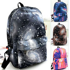 Galaxy Space Backpack Travel Rucksack Canvas Storage School Bags For Men Women