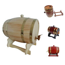 Durable 1.5L /Wooden/ Wine Barrel Liquor Beer Container w/ Wood Tap 4 Colors
