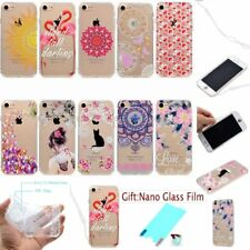 Strap+Film+Acrylic Fashion SLIM TPU SOFT Edge RUGGED Back Case Cover For iPhone