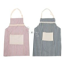 Unisex Adjustable Stripe Kitchen Cooking Apron Home Restauran Convenient Pocket