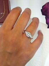 1 Ct Diamond .925 Sterling Silver Round Cut Solitaire Engagement Wedding Ring