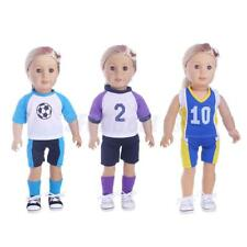 18inch Doll Clothing Casual Sports Uniform Outfit for American Girl Doll Costume