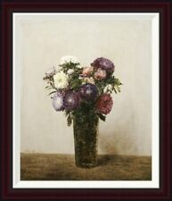 Global Gallery Vase De Fleurs by Henri Fantin-Latour Framed Painting Print