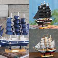 9.5'' Nautical Wooden Handcrafted Ship Model Pirate Sailing Boat Replica