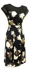 New Vtg 1930's 40's WW2 Victory Sweetheart Sheer Illusion Swing Tea Party Dress