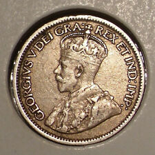 1919 Canada 10 Cents Sterling Silver Coin , VF/XF