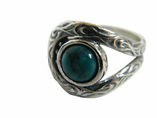 NEW 925 Sterling Silver Ring Turquoise Turquoise Stone Cocktail Style for Women