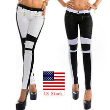 Women Jeans Skinny Stretchy Zipper Tights Long Pants High Waist Trousers US
