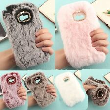 Luxury Soft Warm Fluffy Fur Plush Wool Bling Skin Cover Case For Various Phones