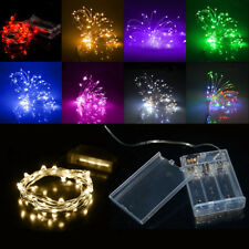 20/30/40/50/100LED MICRO WIRE STRING FAIRY PARTY XMAS WEDDING CHRISTMAS LIGHT