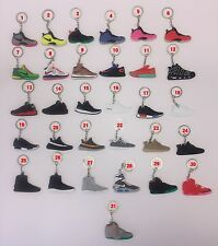 Pick 3/5/10/15/20 Air Jordan Sneaker KeyChain Yeezy Ultra Boost NMD Red October