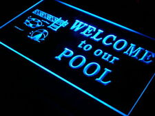 s003-b Welcome to our Pool Home Decor Neon Light Sign