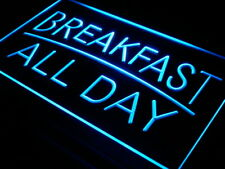 i311-b BREAKFAST ALL DAY OPEN Cafe Bar Neon Light Sign