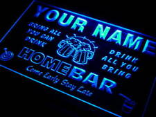 q-tm Name Personalized Custom Family Home Brew Mug Cheers Bar Beer Neon Sign