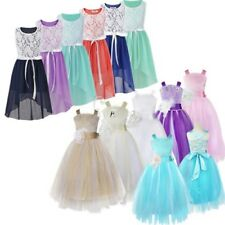 Flower Girls Wedding Bridesmaid Communion Pageant Dress Kid Party Prom Ball Gown