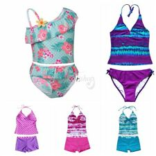 Toddler Girl Kid Floral Swimwear Tankini Bather Bathing Suit Beachwear Swimsuit