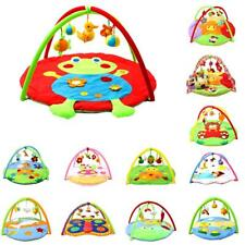 Baby Large Cotton Playmat Tummy Time Activity Gym Floor Mat Animals with Toys