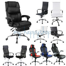 Luxury Executive Office Computer Desk Chair PU Leather Lift/Swivel Wheel Casters