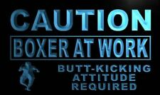 m548-b Caution Boxer At Work Neon Light Sign