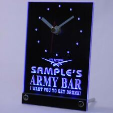 tnctq-tm Personalized Custom Army Man Cave Bar Beer Bar Neon Led Table Clock