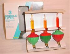 BOX OF 3 VINTAGE NOMA CHRISTMAS TREE BUBBLE LIGHTS LITES REPLACEMENT BULBS