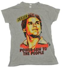 Dexter - Power-Saw Grey Marle Female T-Shirt - Large