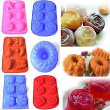 6 Cavity Silicone Fondant Cake Mold Chocolate Muffin Pan Jelly Cookie DIY Mould