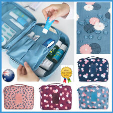 Lady MakeUp Wash Bag Toiletry Cosmetic Travel Hanging Fold Organizer Case Holder