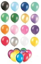 """8 x 12"""" Pearlised/Metallic Latex Balloons (Party) ALL COLOURS"""