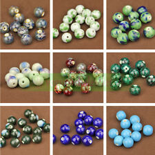 14mm 10pcs Charms Round Ceramic Porcelain Loose Spacer Beads Jewelry Making DIY