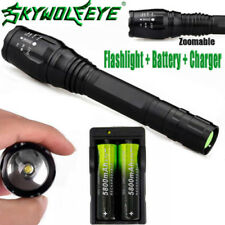 Zoomable 20000LM 5Mode LED XMLT6 LED Flashlight Lamp 18650Battery+Charger #