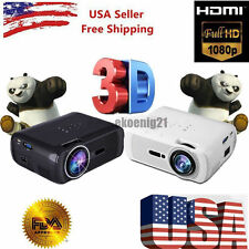7000 Lumens Full HD 1080P LCD 3D VGA HDMI TV Home Theater Projector Cinema US SK