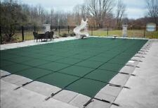 Rectangle MESH Swimming Pool Winter Safety Cover 15 YR WTY-(Choose SIZE & COLOR)