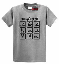 Today's Menu Sex Positions Funny T Shirt Adult Humor Sexual Graphic Tee