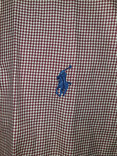 Polo Ralph Lauren Mens Dress Shirt L Large Red White Houndstooth