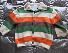 NWT GYMBOREE Little Tractor Co Striped CARDIGAN SWEATER Infant 6-12 mo OR 12-18