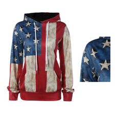 Casual loose personality 1Pcs American flag sweater Hoodies long-sleeved hooded
