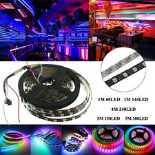 WS2812B WS2812 IC 5050 RGB LED Strip 30/60/144 LEDs/M Individual Addressable 5V
