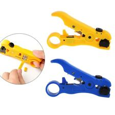 STP UTP Cat6 Cat5 Wire Coaxial Stripping Tool Flat/Round Cable Stripper Cutter
