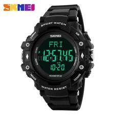 3D Pedometer Watch Heart Rate Monitor Calories Counter Fitness Sport Watch O4Z0