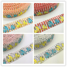 NEW 1 5Yards 25mm Printed Grosgrain Ribbon Hair Clips monkey  Craft Hair Bow