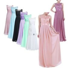 Women Lace Prom Evening Party Cocktail Bridesmaid Wedding Formal Long Gown Dress