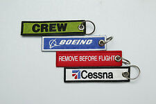 Embroidered Aviator Key Ring / Luggage Tag / for Pilots - Aviation Enthusiasts
