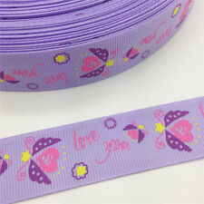 NEW 1 5 Yards 1'' 25mm love you Spray Printed Grosgrain Ribbon Hair Bow Sewing